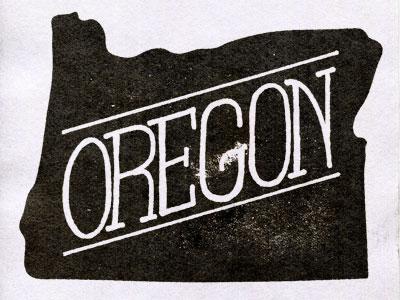 Oregon illustration design type oregon
