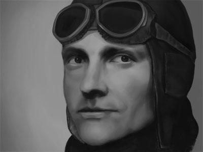 Von Richthofen illustration richthofen painting ww1 pilot digital painting red baron manfred von richthofen