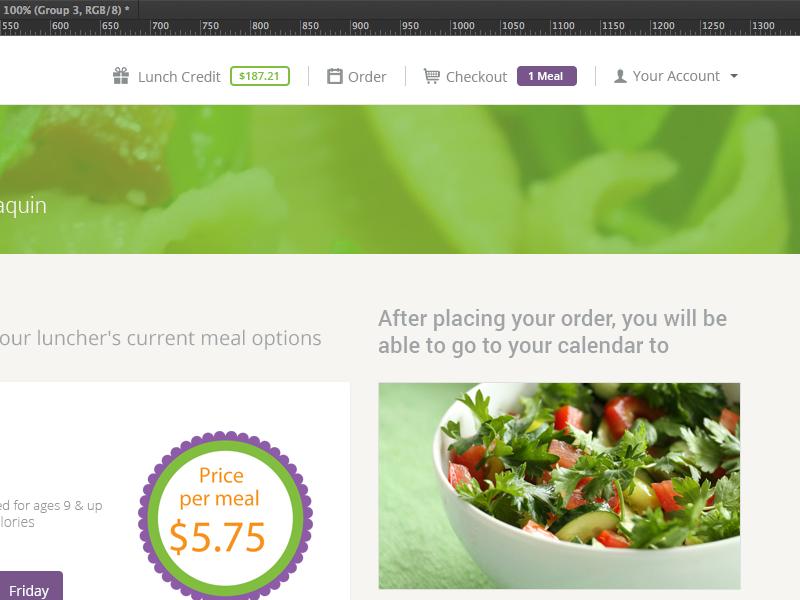 Intelligent meal menu uiux bootstrap 3 flat top bar menu ghost buttons