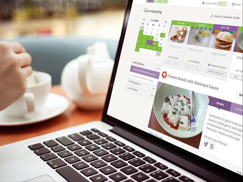 View your order order lunch meal calendar accordion flat responsive bootstrap uiux weekly meal plan meal plan