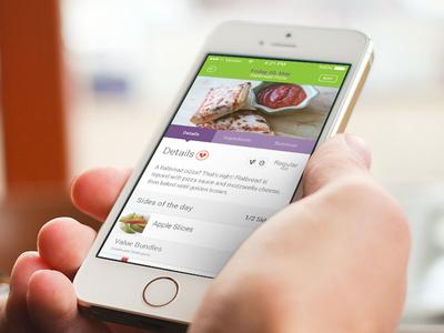 Mobile meal details