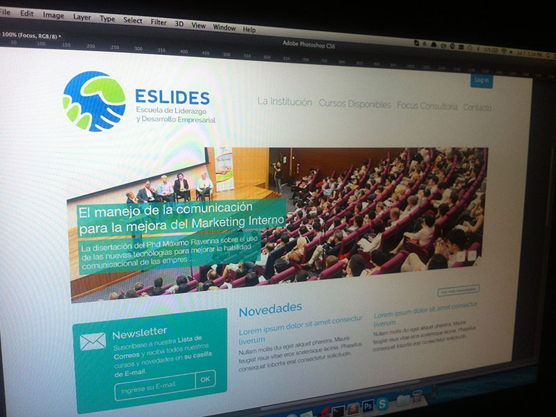 Home page for ESLIDES