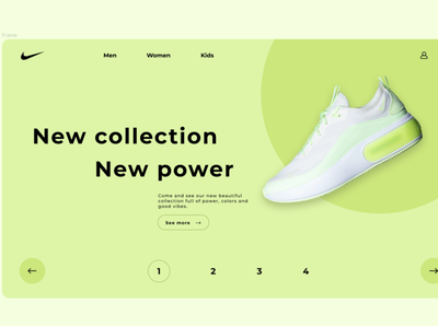 Nike1 webdesign ui uidesign branding website nike flat app design web design ui design