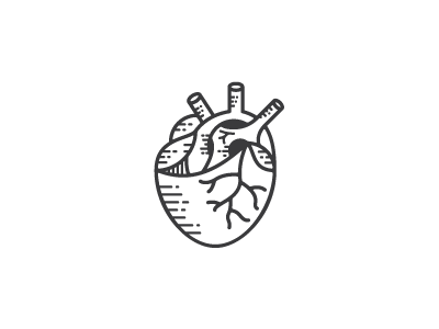 Heart heart illustration anatomical old school