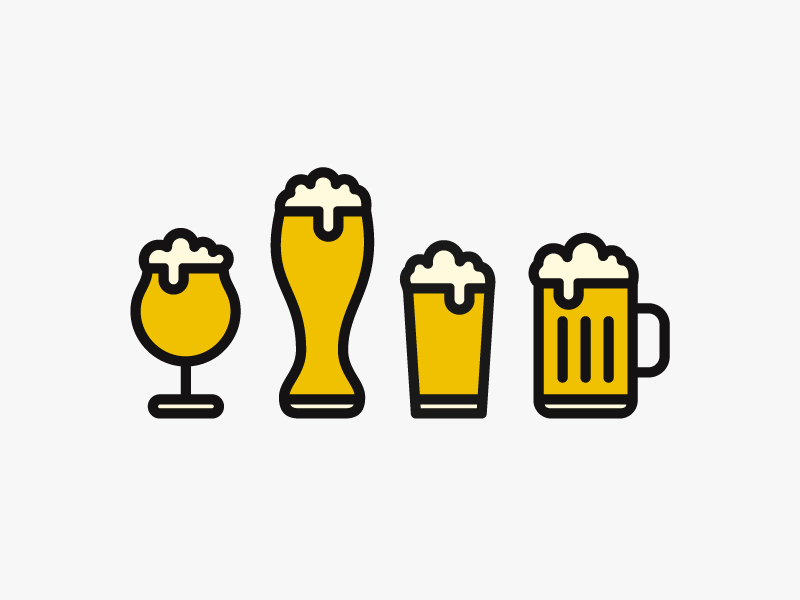 Beer beer glass illustration foam cheers icon