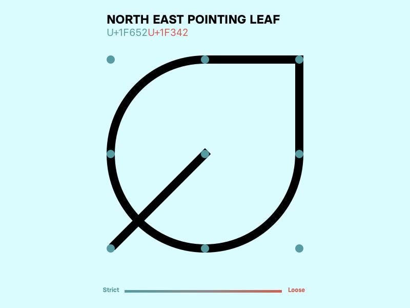 Leaf grid system design minimal strict icons