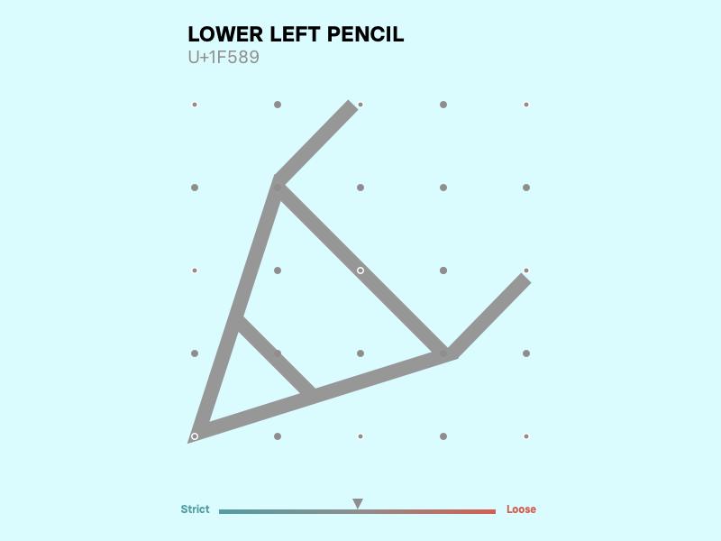 Pencil system design grid minimal icons