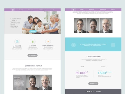 Retired Project old website flat purple agency me retired ui ux picture profil team header