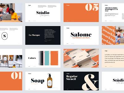Le Studio - Brand Guideline brandbook branding design design office space coworking ui identity branding branding