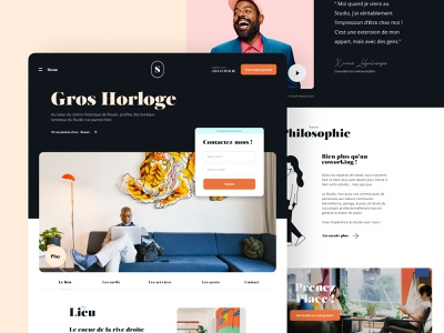 Location Page website ui ux me illustration home landing identity brand coworking location