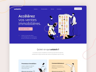 Unlatch Exploration branding design illustration website home landing agency me ux ui