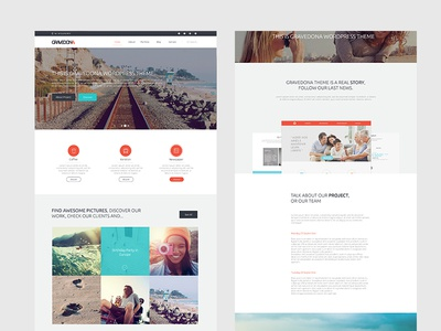 Home / Landing Page  wordpress landing home pictures ui ux thumbnail hover header agenceme