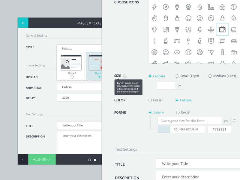 Modal Shortcode modal shortcode ui ux form wordpress panel agenceme icons illustration buttons