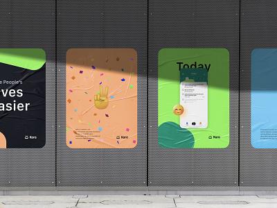 Brand for Kara App billboard 3d emoji colors ui design brandbook identity brand identity branding brand