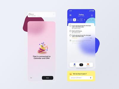 Kara App agency branding illustration minimalist emoji gradient blur mobile ux ui app
