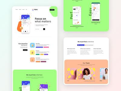 Landing page for Kara.ai emoji colors agency me ui ux design website home landing