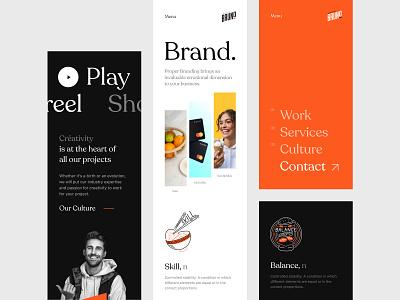 Bruno Mobile branding responsive identity awwward mobile agency bruno