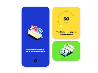 Ocodigo - Onboarding brand identity isometric illustration motion branding mobile app animation agency me ux ui