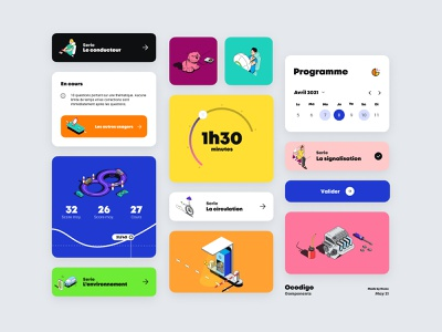 Ocodigo Components app product identity branding illustration website home animation me ux ui