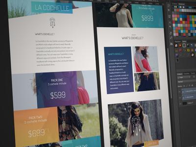 La Coachelle coachelle ui ux kickstarter project gradient color onepage price