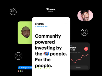 Shares - Mobile smiley illustrations identity branding mobile app design animation agency me ux ui