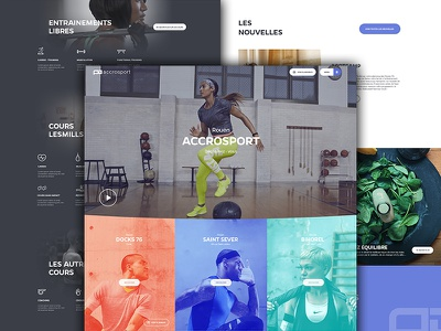 Home Page - Fitness Club home fitness club gym landing run ui ux picture news
