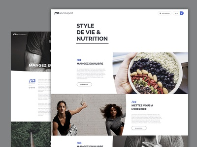News news ui ux blog magazine sport fitness life food curve white clean