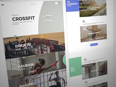 Crossfit Homepage crossfit home landing ui ux sport club fitness clean curve cover