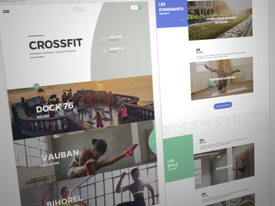 Crossfit Homepage crossfit home landing ui ux sport club fitness clean curve cover