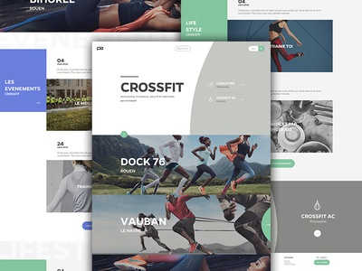 Crossfit crossfit ui ux sport fitness photo header curve