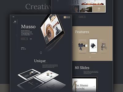 Musso Presentation musso presentation keynote powerpoint google slides ui landing slides market me agency
