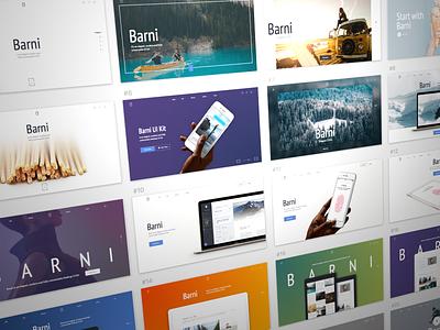 Barni Sneakpeek market ui kit me coming soon desktop agency barni ux