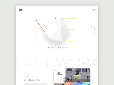 Agence Me New Website ux ui new work soon coming landing website me agency