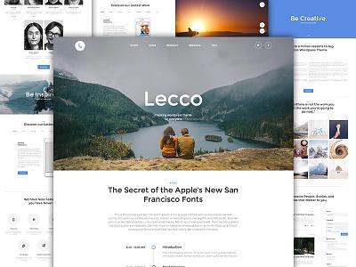Lecco WP Theme portfolio slider ux ui one page me market lecco theme wordpress