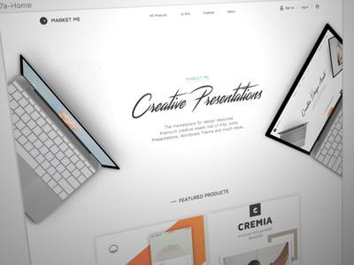 Marketme V2 ui kit products presentations creative agenceme v2 premium product website launch me market