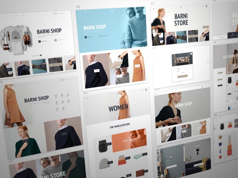 Barni Free Sample sketch psd free ressources market animation ui online commerce shop ui kit barni