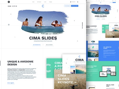 Cima Slides Presentation me product sell market ux ui google keynote powerpoint presentation slides