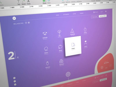 Bellagicons - Huge Icon Set icons uikit template platform freebie new ux ui product launch me market