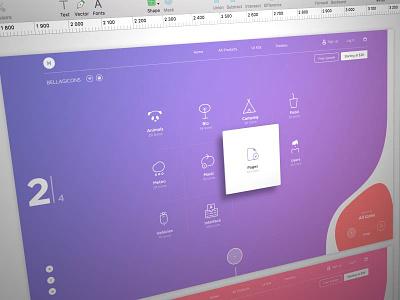 Bellagicons - Huge Icon Set icons uikit template platform freebie new ux ui product launch me market