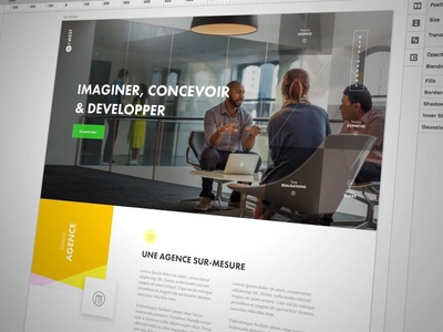 New Project color me agency one page landing app ux ui