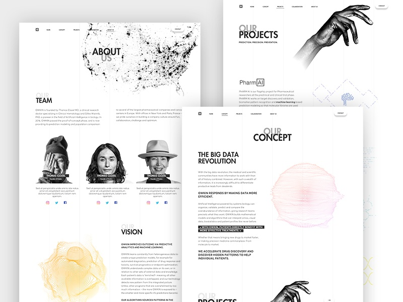 Pages clean video home ui ux product design minimalist