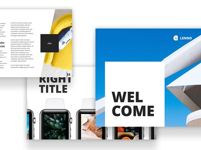 Lenno Slides clean ui ux keynote powerpoint buy me market lento presentation slides