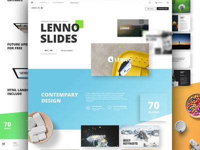 Lenno Slides keynote powerpoint goods buy resources me market ui kit ux ui slides presentation