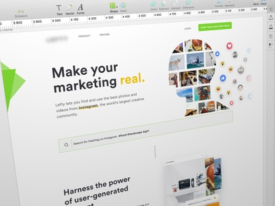 Home Page Redesign app tuto me mobile desktop ux ui gradient colour influence landing home