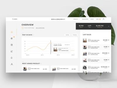 Seller Dashboard web app ui ux white me clean product seller dashboard