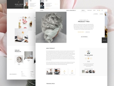 Bbay Product Page space white luxury clean testimonials seller me agency ux ui page product