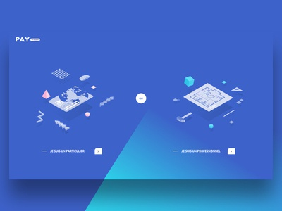Pay By Drapo clean webdesign me agency new pay gradient blue ux ui illustration