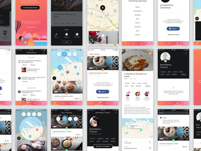 Marks Apps available london paris spots mobile ui ux me animation guide cities marks app