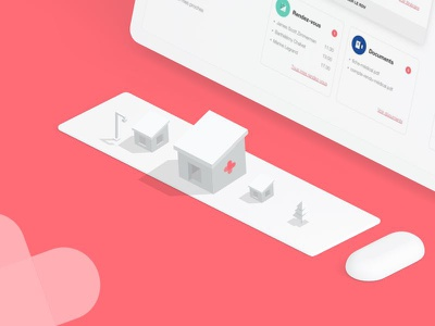 Coming Soon ux ui design agency me isometric illustration pink soon announcement