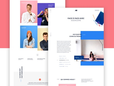 Team Page white clean sf france colors new rebranding team ux ui me agence